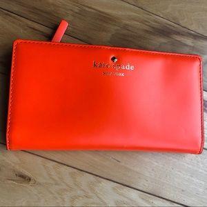 kate spade Bags - Kate Spade pink and orange wallet